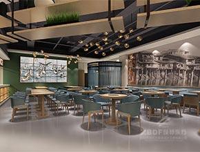 潮汕喜鹅中式风格连锁餐厅设计效果图