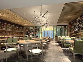 吉林市-四季椰林餐厅装修设计