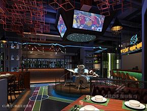 深圳松岗ICU音乐烤吧主题餐厅设计,主题餐厅装修