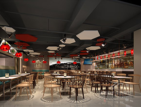 潮汕书城喜鹅店生态餐厅设计,生态餐厅装修项目